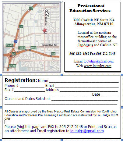Location Map and Registration Form